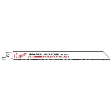 Полотно для сабельной пилы универсальное Milwaukee GP 200х8/12 (5шт)