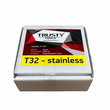 Гвоздь отделочный 16 тип 32 мм из нержавеющей стали