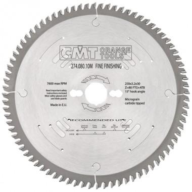 Диск пильный СМТ для чистового реза 250x30 80M