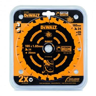 Диск пильный DEWALT Extreme по дереву 165x20 24T