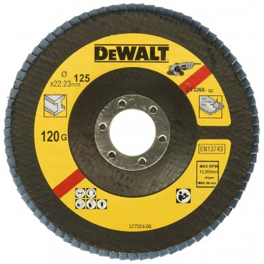 Круг лепестковый DeWalt 125x22.2 мм, 120G DT3268-QZ