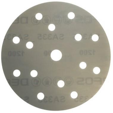 Шлифовальный круг DEERFOS (PLATINUM) P220, Ø150 мм, 15 отверстий
