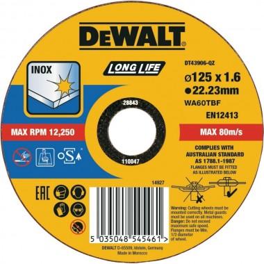 Круг отрезной по металлу DeWalt Long Life 125 мм