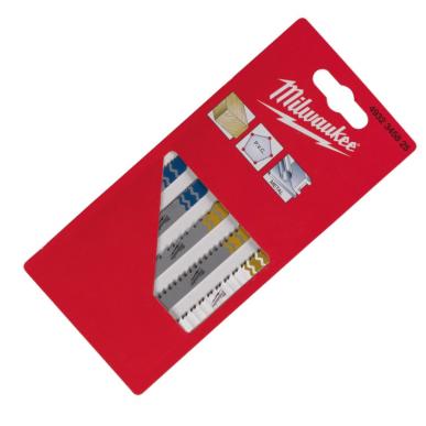 Набор полотен для лобзика с T-образным хвостовиком MILWAUKEE