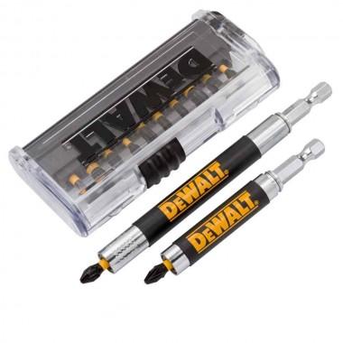 Набор бит 25 мм DEWALT (14 шт) с 2 магнитными держателями