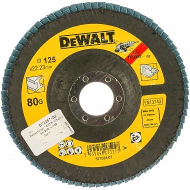 Круг лепестковый DeWalt 125 x 22.2 мм, 80G DT3267-QZ