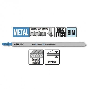 Пилки по сэндвич-панелям и металлу CMT JT718BF-3 160мм (3 шт)