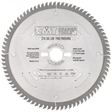 Диск пильный СМТ для чистового реза 300x30 100M