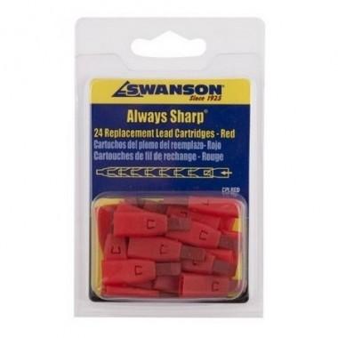 Грифели для карандаша Swanson Always Sharp, красные (24 шт)