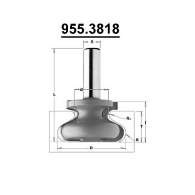 Фреза для ручек интегрированных в мебель CMT 955.3818