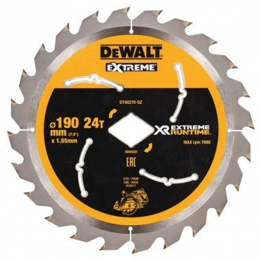 Диск пильный DEWALT Extreme для гипоидной пилы 190x30 24T