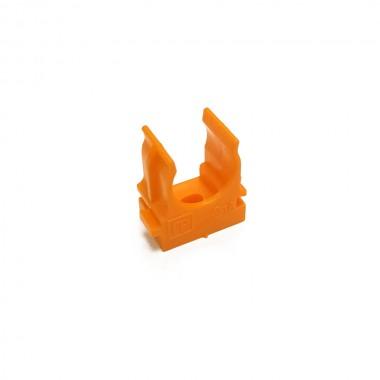 Крепеж-клипса для труб и гофры ПРОМРУКАВ 16 мм (оранжевая)