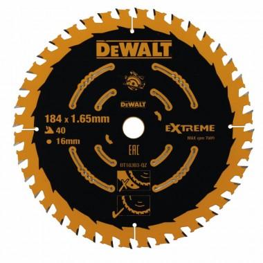 Пильный диск DEWALT EXTREME по дереву 184х16 40Z