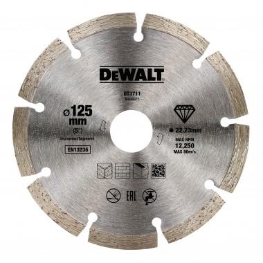 Алмазный диск сегментный DeWalt 125 мм DT3711