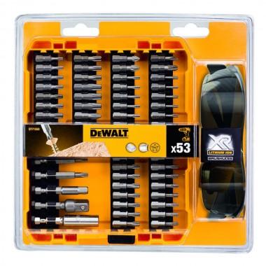 Набор бит DEWALT (53 шт) в пластиковом кейсе + очки