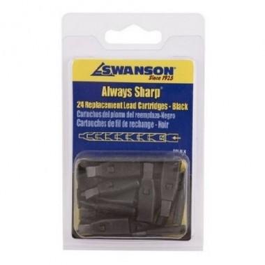 Грифели для карандаша Swanson Always Sharp, чёрные (24 шт)