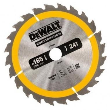 Диск пильный DEWALT CONSTRUCTION по дереву с гвоздями 165x20 24T