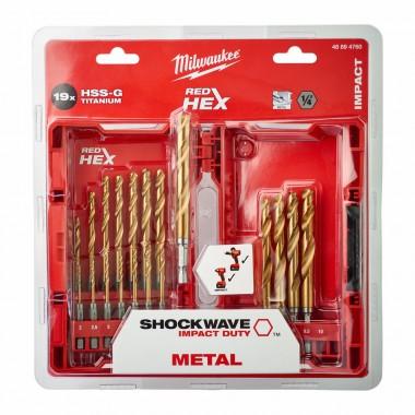 Набор свёрл по металлу MILWAUKEE Shockwave HSS-G HEX 18шт