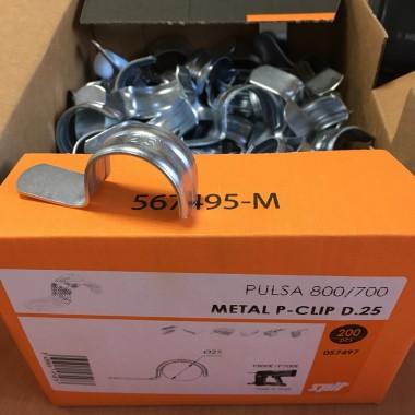 Скоба металлическая 25 мм Spit Metal P-Clip (200 штук)