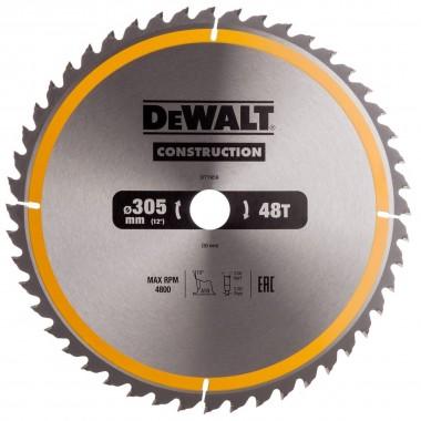 Диск пильный DEWALT CONSTRUCTION по дереву с гвоздями 305x30 48T