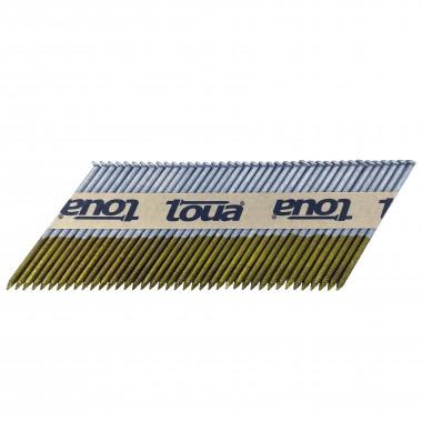 Гвоздь реечный Toua 34° 75 мм ершёный гальванизированный 15мкм