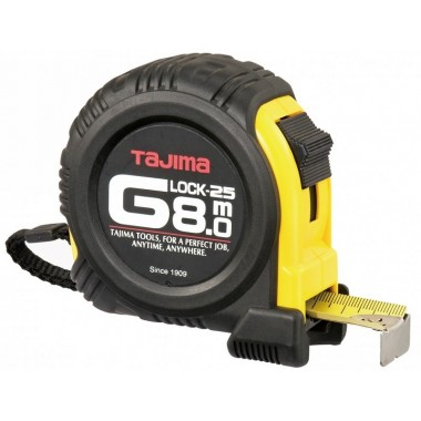 Рулетка TAJIMA G LOCK 8м x 25мм