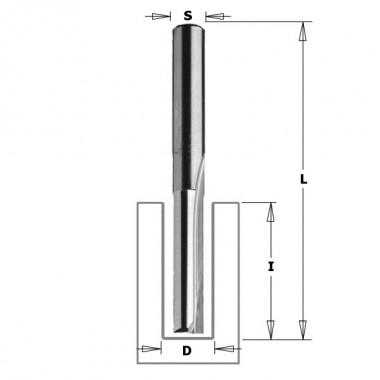 Фреза пазовая CMT 6х25х60 мм, S 8 мм