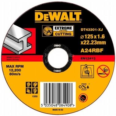 Круг отрезной по металлу DeWalt Extreme 125 мм
