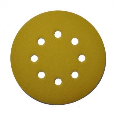 Шлифовальный круг DEERFOS (GOLD) P600, Ø125 мм, 8 отверстий