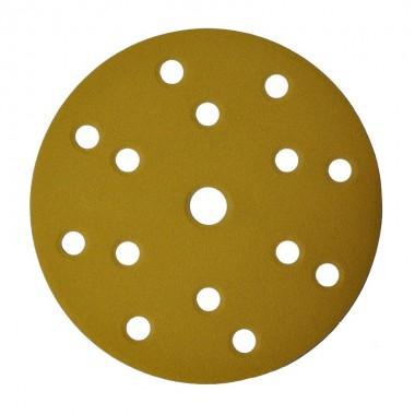 Шлифовальный круг DEERFOS (GOLD) P120, Ø150 мм, 15 отверстий